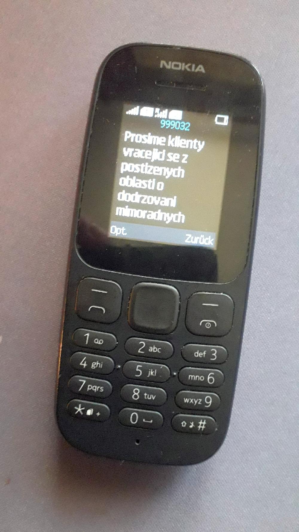 """SMS der Gesundheitsbehörde: """"Wir bitten zurückkehrende Klienten aus betroffenen gebieten um Einhaltung besonderer Maßnahmen des Gesundheitsministeriums"""", Foto: Kountouroyanis"""