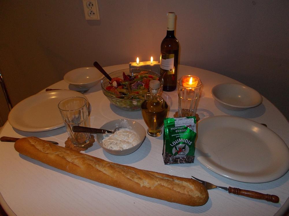 Fertig ist das Dinner zu Zweit. Der Fisch sollte bereits nach 20 Minuten gar sein.