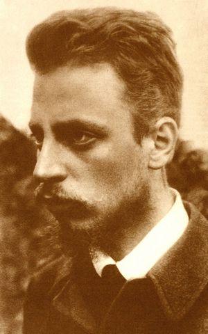 Rainer Maria Rilke um 1900. Foto 1: unbekannt