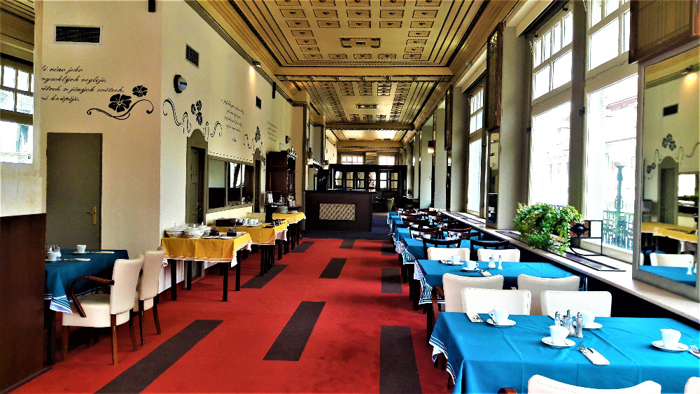 Hotel Praha Liberec heute - Restaurant Schienenhof