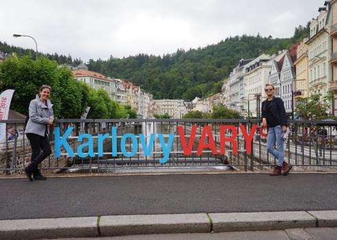 Ania und ich in Karlsbad