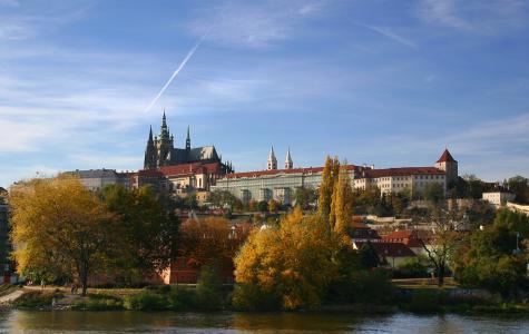 Blick auf den Hradschin (Hradčany, Burgstadt)