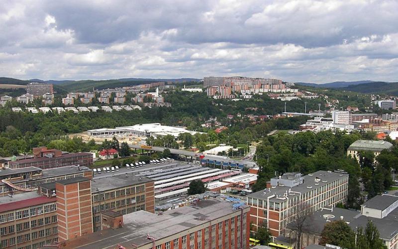 Zlín: Siedlung Jižní svahy