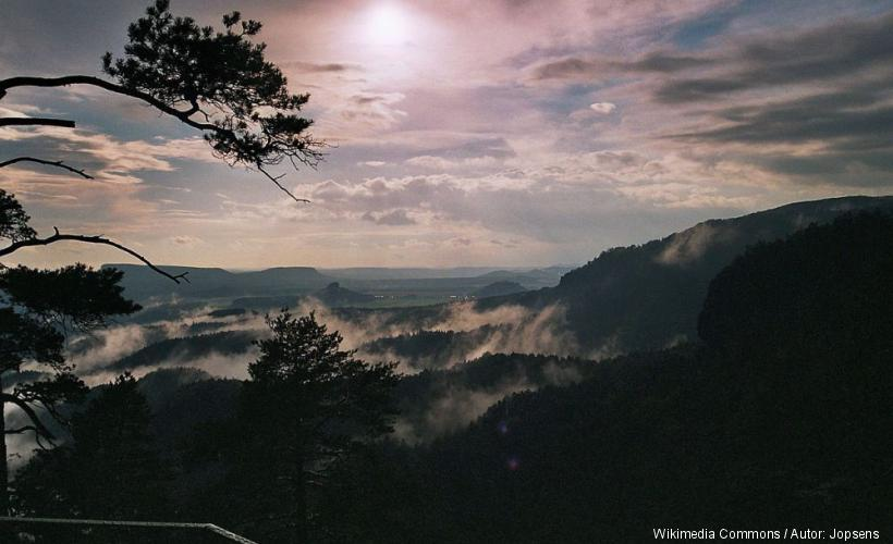 Blick vom Prebischtor nach Böhmen