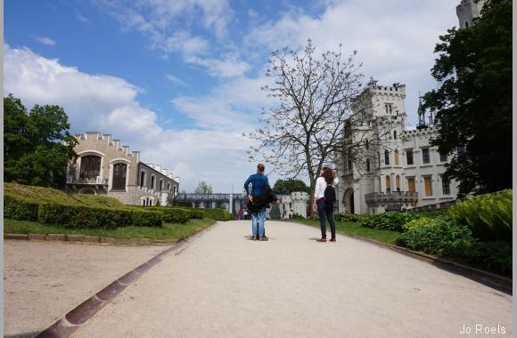 Aufstieg zum Schloss