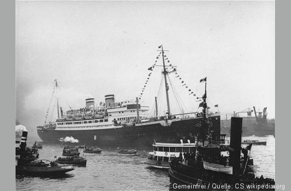 """Die """"St. Louis"""" sollte 1939 937 deutsche Juden nach Havanna bringen. Die Flucht wurde zur Irrfahrt über den Atlantik."""