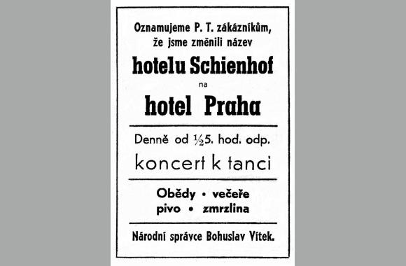 Nach 1945 wurde das Hotel umbenannt