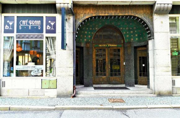 Hotel Praha Liberec heute - Eingang