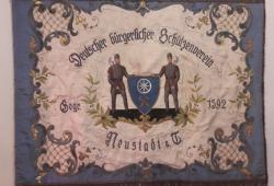 Die Fahne des deutschen bürgerlichen Schützenvereins - Neustadt a. T.